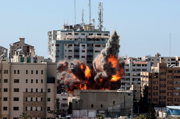La tour Jala qui abrite la chaîne de télévision Al-Jazeera et l'agence de presse Associated