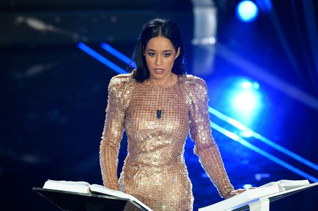 Rula Jebreal at the first evening of the 70th Sanremo Music Festival. Sanremo (Italy), February 4th,...