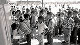 Part of a photo essay on school desegregation, following the Supreme Court decision in Brown v. Board of Education in 1954. These are students in 1970 at Leapwood Elementary School in Carson, California, which was fully integrated at that time.