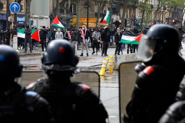 Paris: 45 personnes en garde à vue après la manifestation pro-palestinienne interdite