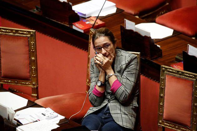 ROME, ITALY - DECEMBER 16: Italian senator Simona Malpezzi during the Senate discussion of changes to...