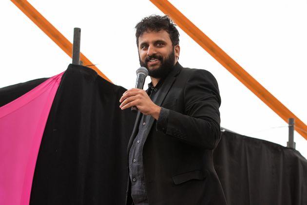 Nish Kumar performing at Latitude Festival in 2019