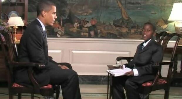 Muore il bimbo reporter che intervistò Obama a 11 anni