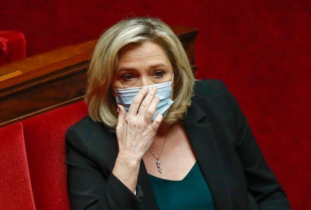 La líder de extrema derecha francesa, Marine Le