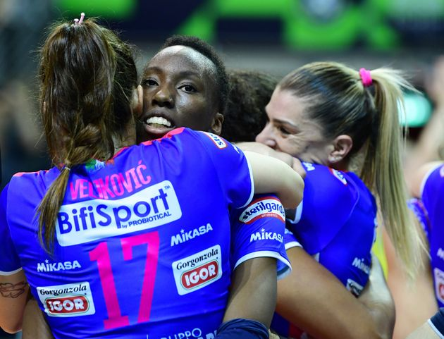 18 May 2019, Berlin: Volleyball, women: Champions League, Volley Novara - Imoco Conegliano, knockout...