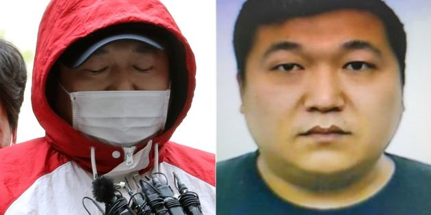 지난 14일 구속전 피의자 심문을 위해 인천시 미추홀구 인천지방법원에 들어서는 허씨의 모습(왼쪽) / 경찰이 공개한 허민우의