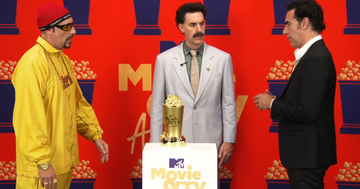 Sacha Baron Cohen Confronts Some Of His Comedy Creations In MTV Movie Awards Speech