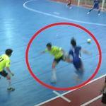 대한민국 풋살 경기장에서 역대급 반칙이 나왔고, 해당 선수는 영구 제명될