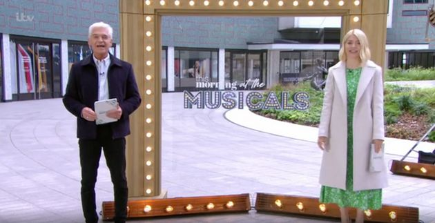 Phillip Schofield and Holly Willoughby presenting This Morning on