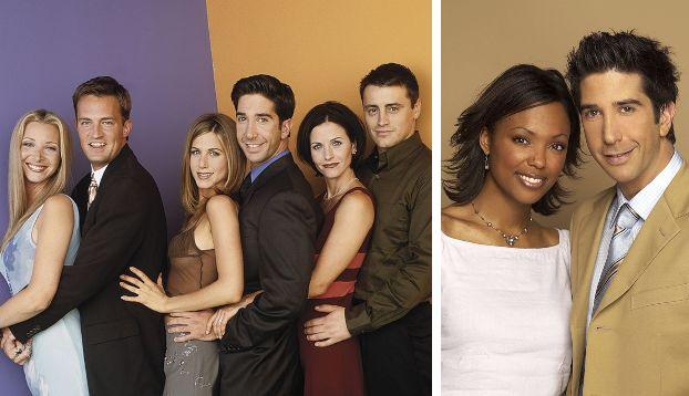 Il cast di Friends;David Schwimmer e Aisha Tyler nella