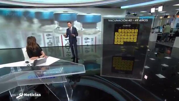 Mónica Carrillo y Matías Prats en 'Antena 3 Noticias Fin de