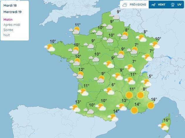 La météo du 19 mai en France, le