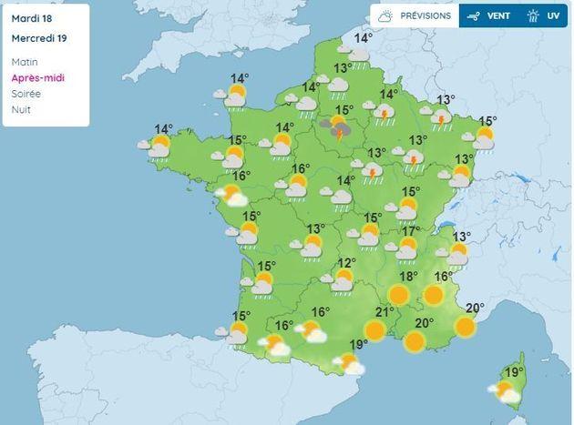 La météo du 19 mai en France,