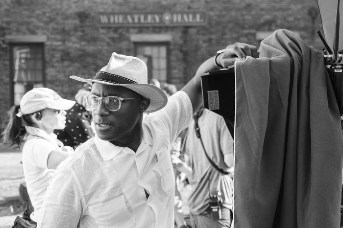 """Barry Jenkins on the set of """"The Underground Railroad."""""""