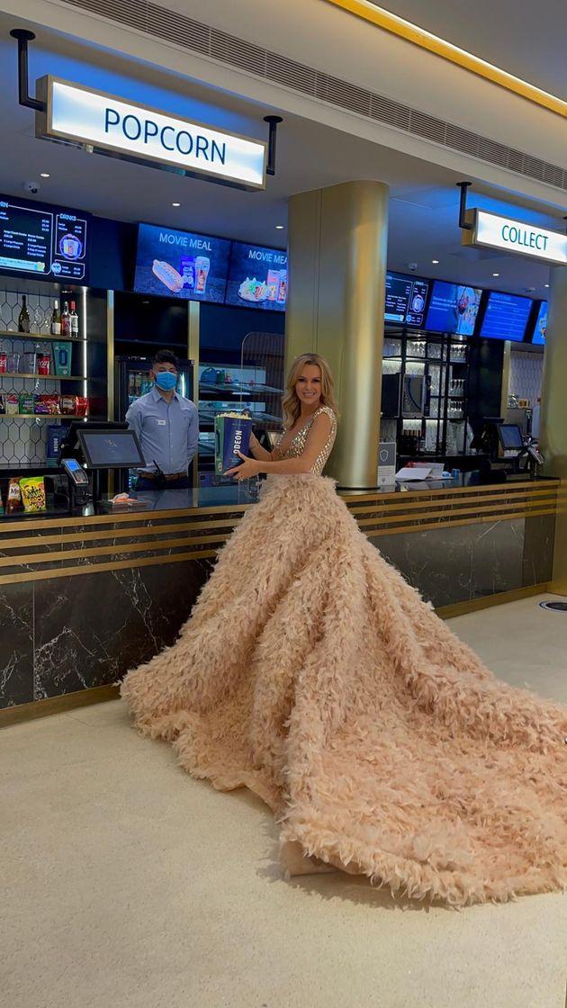 Amanda headed to the cinema next to the Heart