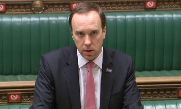 Health Secretary Matt Hancock updates MPs in the House of