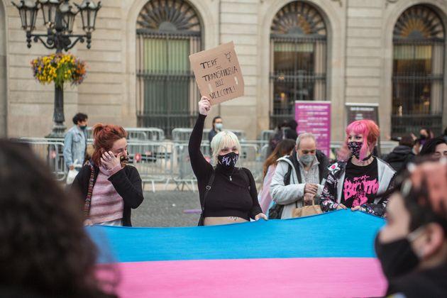 Manifestación por la ley trans en