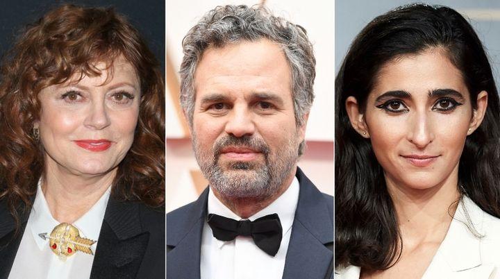 Susan Sarandon, Mark Ruffalo y Alba Flores.