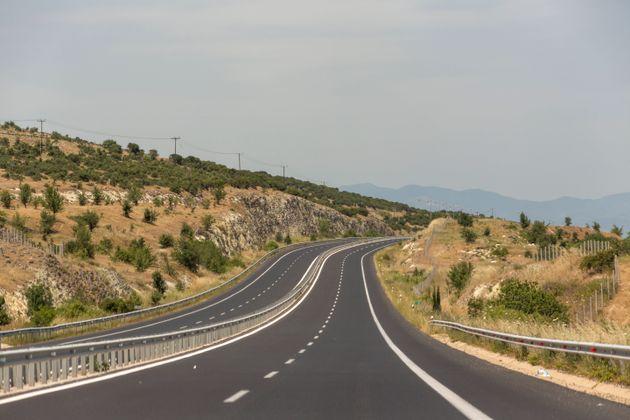 egnatia odos freeway highway road near alexandroupoli to Thessaloniki in