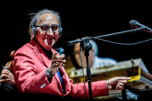 MILAN, ITALY - JULY 14: Italian singer-songwriters, composers Franco Battiato and Alice perform live...