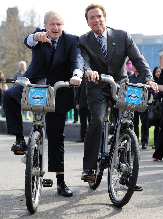 Schwarzenegger helped promote the Boris Bike scheme in