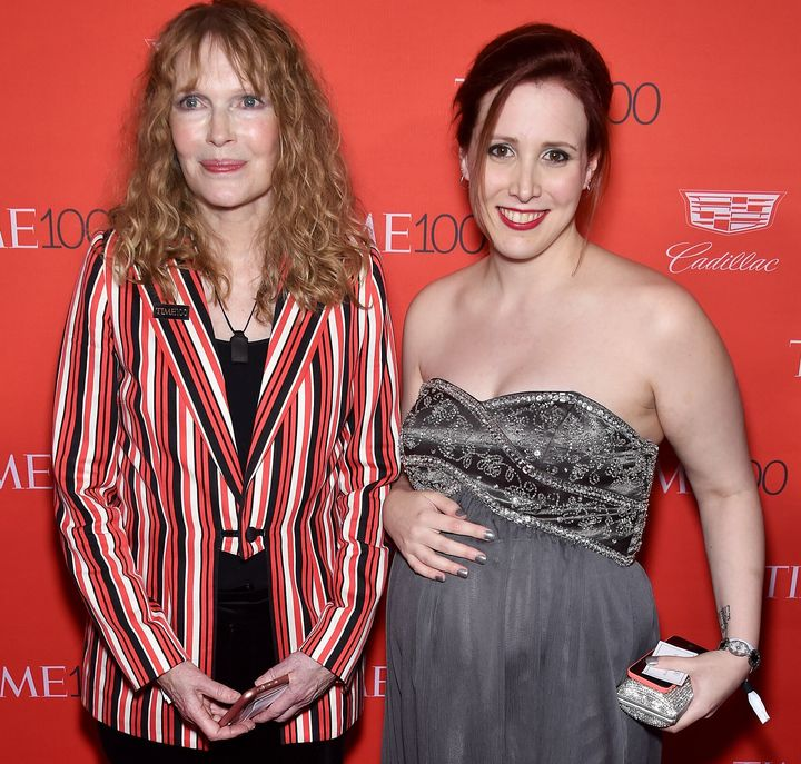 Mia Farrow and her daughter Dylan Farrow attend the 2016 Time 100 Gala.