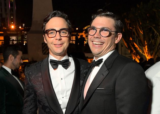 Executive producer Jim Parsons (left) and O'Connell in