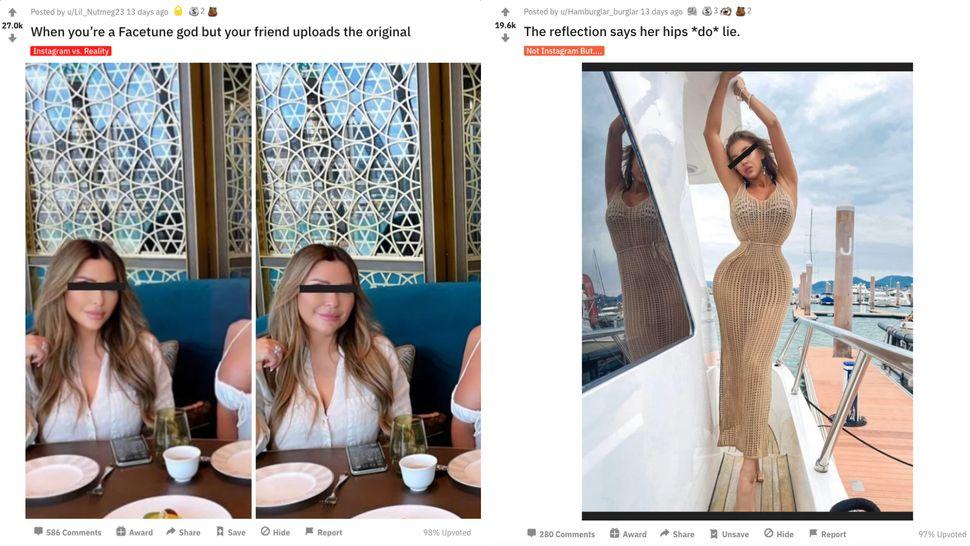 "Reddit's <a href=""https://www.reddit.com/r/Instagramreality/"" target=""_blank"">r/instagramreality</a>&nbsp;is an online commun"