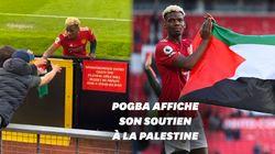 Pogba défile en fin de match avec un drapeau palestinien en signe de