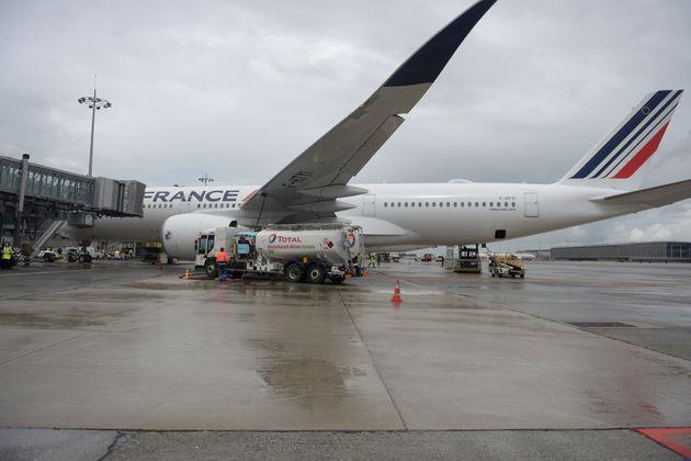 L'airbus A 350 a relié Paris Roissy-Charles-de-Gaulle à Montréal au Canada (photo