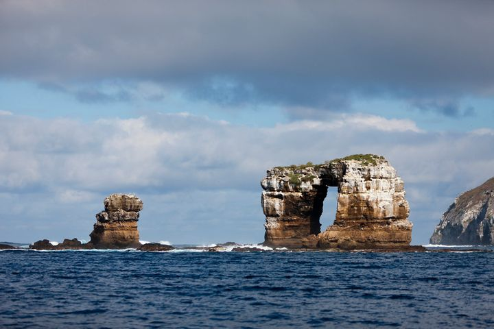 Darwins Arch near Galapagos, Darwin Island, Ecuador. (Photo by Prisma Bildagentur/Universal Images Group via Getty Images)