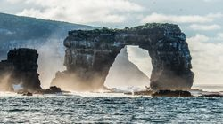 Iconic Galapagos Formation Crumbles Into The Pacific