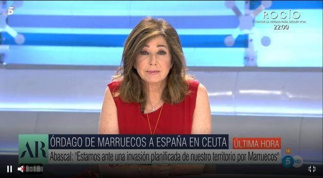 Ana Rosa Quintana, este miércoles en