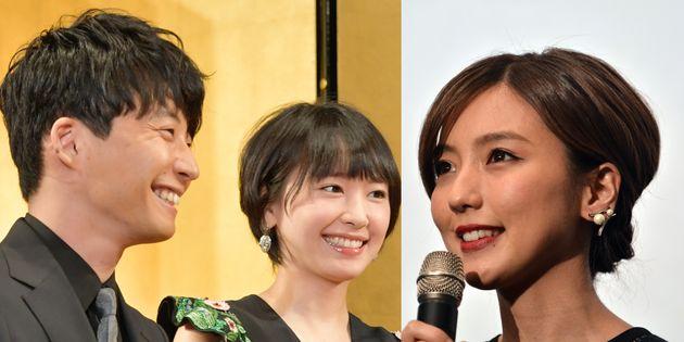 星野源さん、新垣結衣さん、真野恵里菜さん