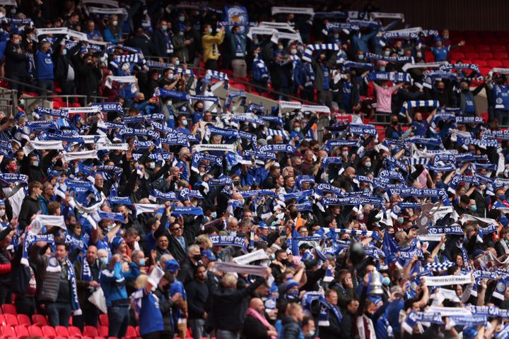 The Emirates FA Cup Final match between Chelsea and Leicester City at Wembley Stadium on May 15, 2021.