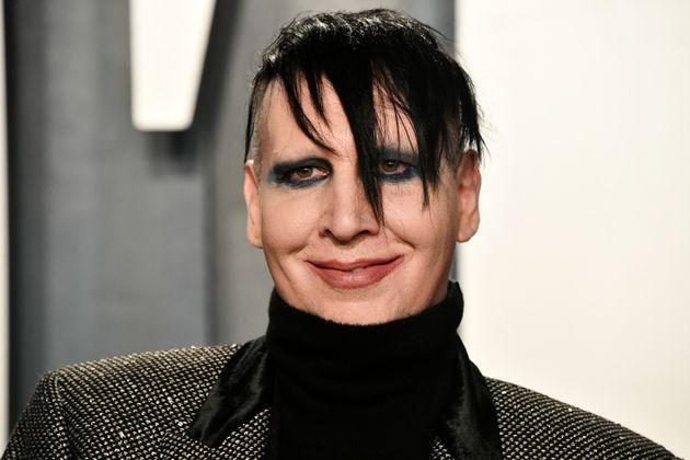 Marilyn Manson en la fiesta de los Oscar de Vanity Fair en