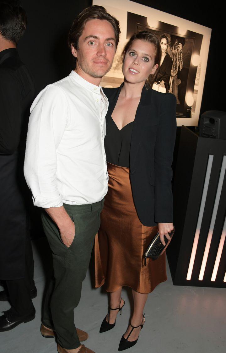 Edoardo Mapelli Mozzi and Princess Beatrice of York attend the Lenny Kravitz & Dom Perignon 'Assemblage' exhibition on Ju