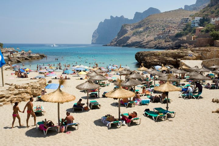 Cala St. Vincenc in Majorca, Spain, which is on the amber list.
