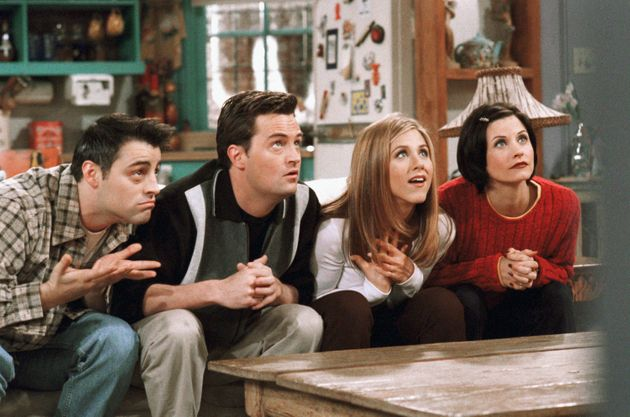 The Friends gang playing the original game during The One With The