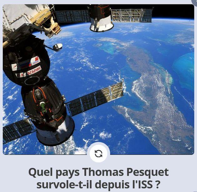 La Mecque, le Quiberon, le Sahara... sur les photos de l'astronaute Thomas Pesquet, les quatre coins...