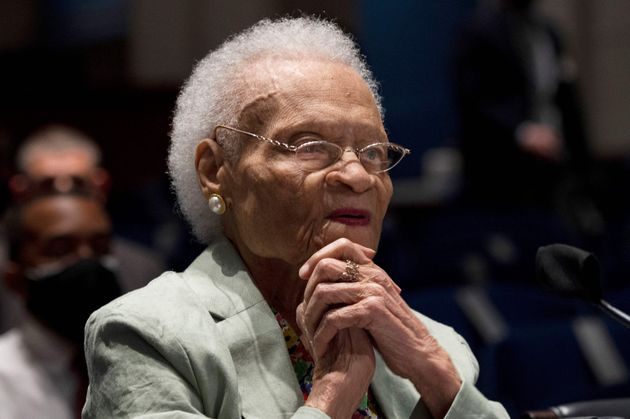 Viola Fletcher testified before the Civil Rights and Civil Liberties Subcommittee hearing called