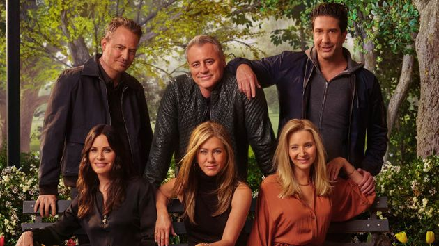 The cast of Friends in a promo shot for the