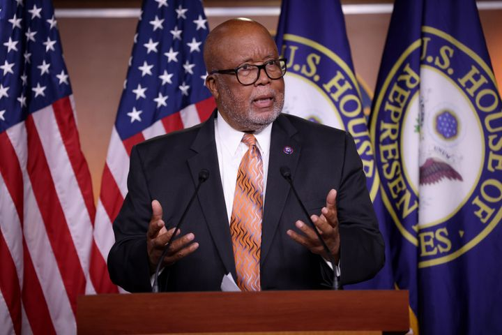 Rep. Bennie Thompson (D-Miss.) answers questions during a press conference on the establishment of a commission to investigat