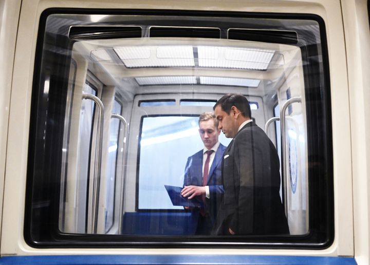 Senator Marco Rubio (R-Fla.) rides a subway car at the U.S. Capitol on May 18. Rubio could be facing his toughest race since