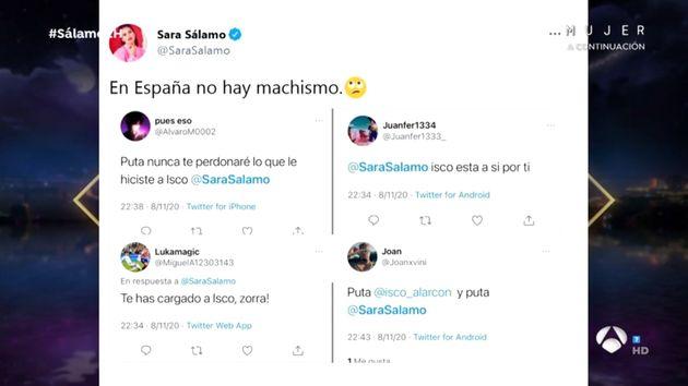 Los mensajes que recibe Sara