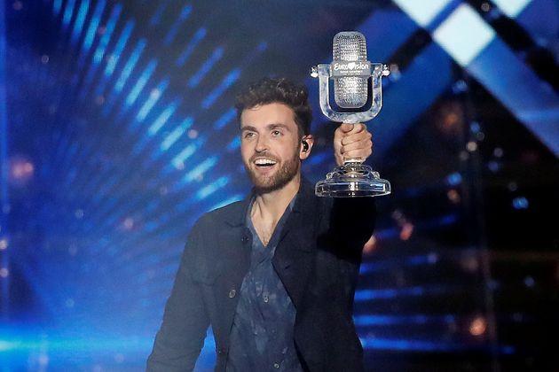 Duncan Laurence, al alzarse como ganador de Eurovisión