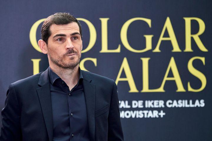 Iker Casillas en la presentación del documental 'Colgar Las Alas' el 18 de noviembre de 2020 en Madrid.