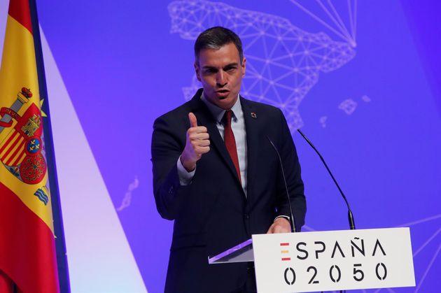 El presidente del Gobierno, Pedro Sánchez, presenta el informe 'España
