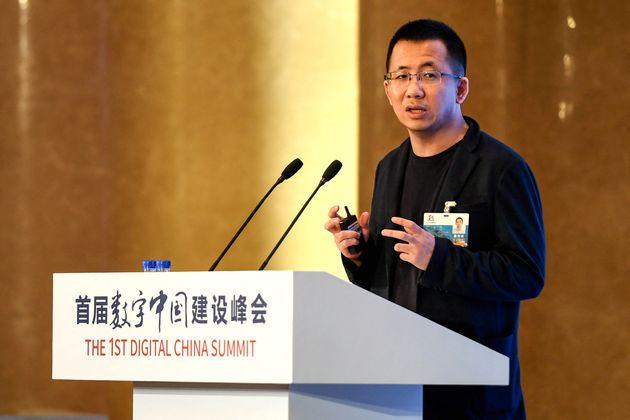 Photo d'illustration: Zhang Yiming s'exprimait àFuzhou, en Chine, le 23 avril