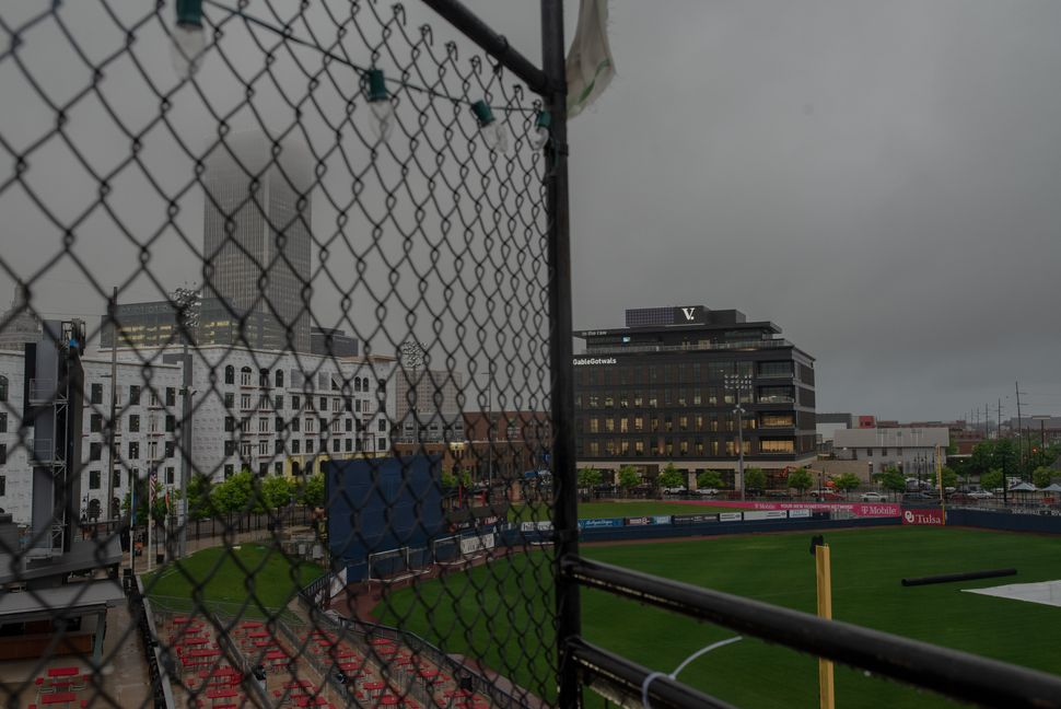 ONEOK Field, home of the Tulsa Drillers baseball team, now sits in the heart of Greenwood and has been a source of controversy.